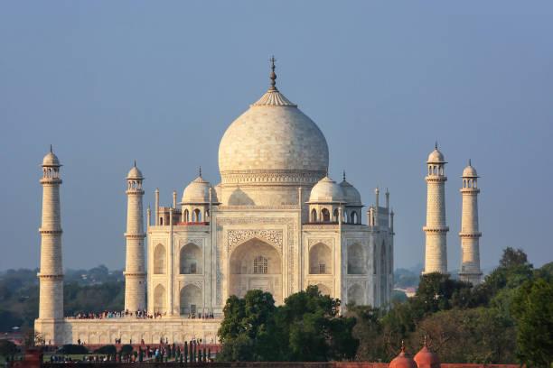 Blick auf Taj Mahal in Agra, Uttar Pradesh, Indien – Foto