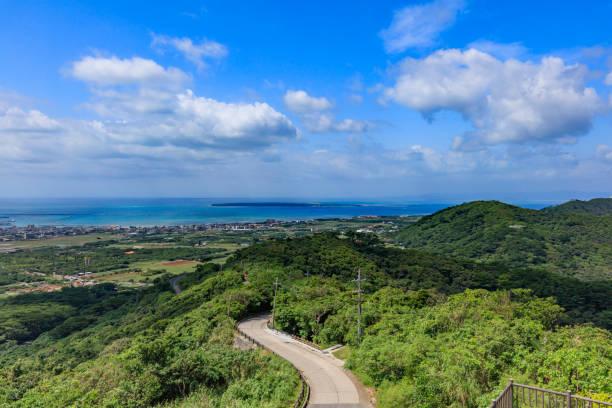 Blick auf die Insel Taketomi vom Ishigakijima Banna Park Observatory – Foto