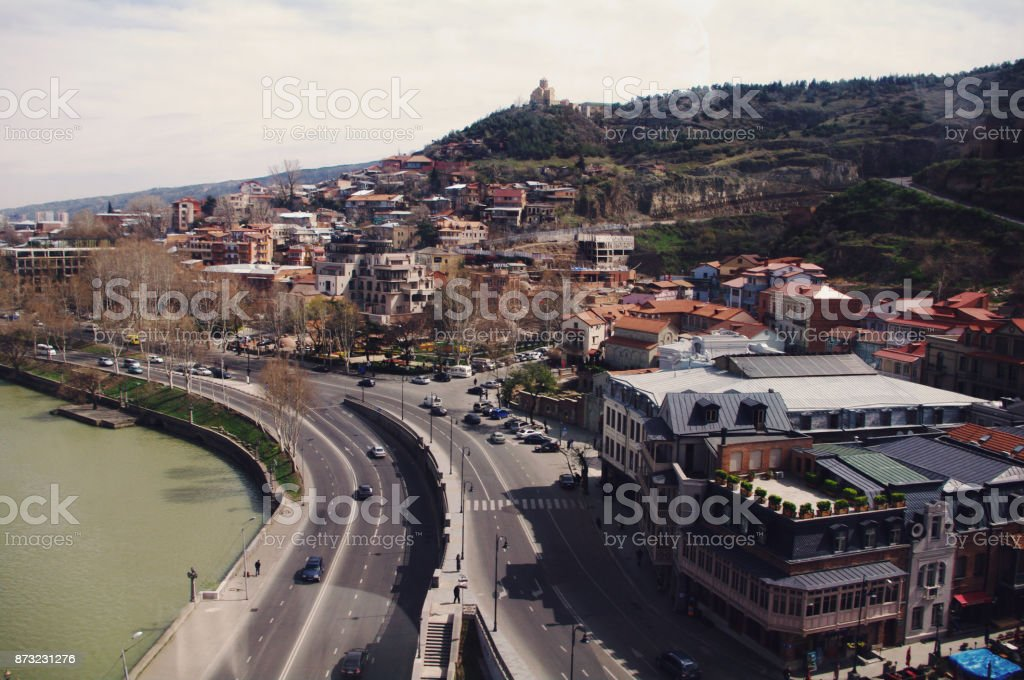 View of Tbilisi, capital of Georgia (country) stock photo