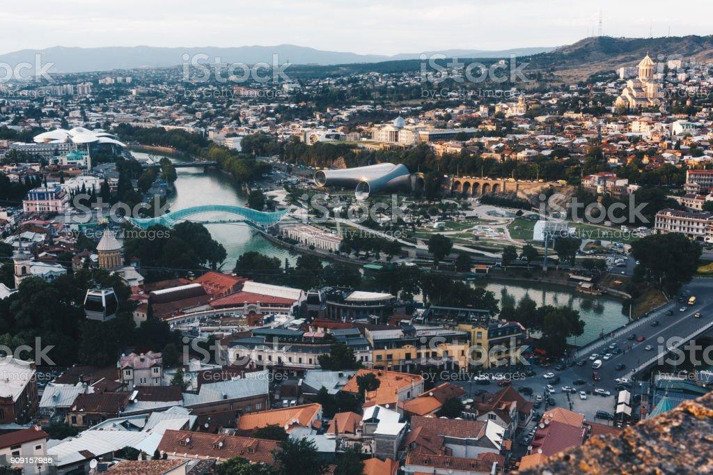 View of Tbilisi the Capital of Georgia Caucasus. stock photo