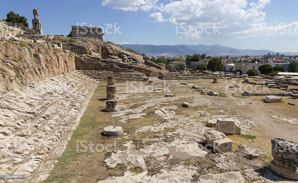 View of Telesterion, ancient Eleusis, Attica, Greece royalty-free stock photo
