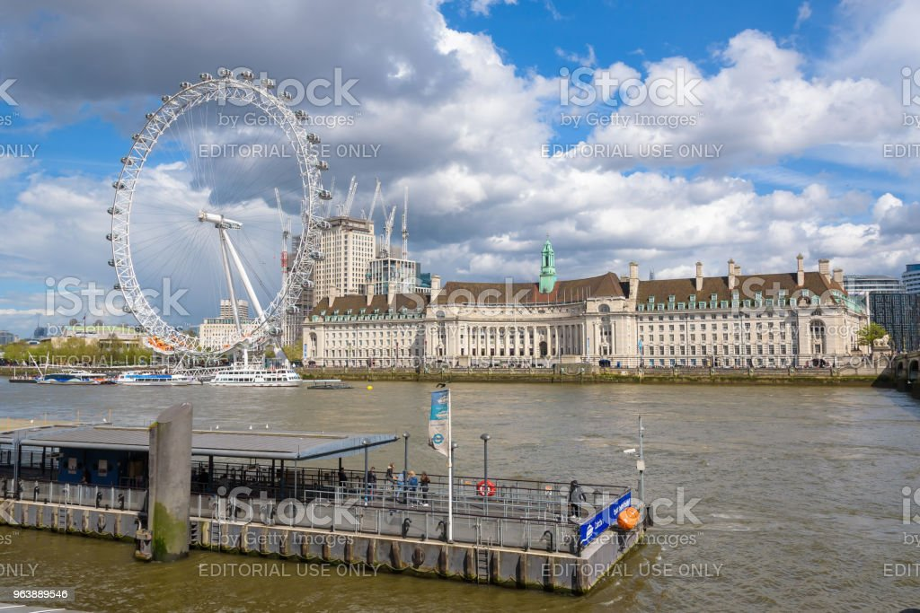 View of Thames River in central London - Royalty-free Architecture Stock Photo