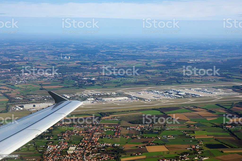 MUNICH, GERMANY - OCTOBER 15, 2016: View of the Airport stock photo