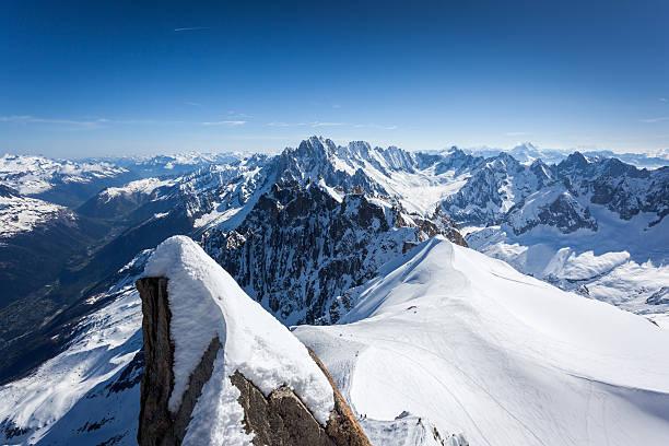 Vue sur les Alpes de l'Aiguille du midi, Chamonix, France - Photo