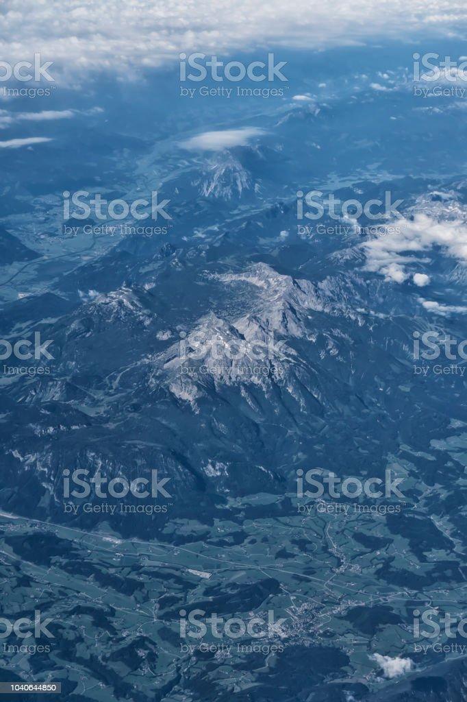Blick auf die Alpen aus der Luft – Foto
