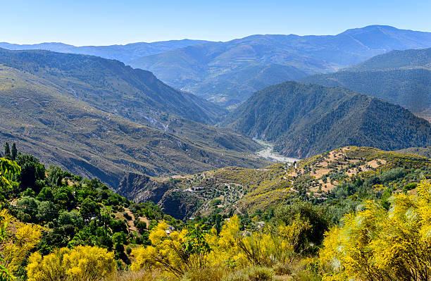 View of the Alpujarra Mountains stock photo