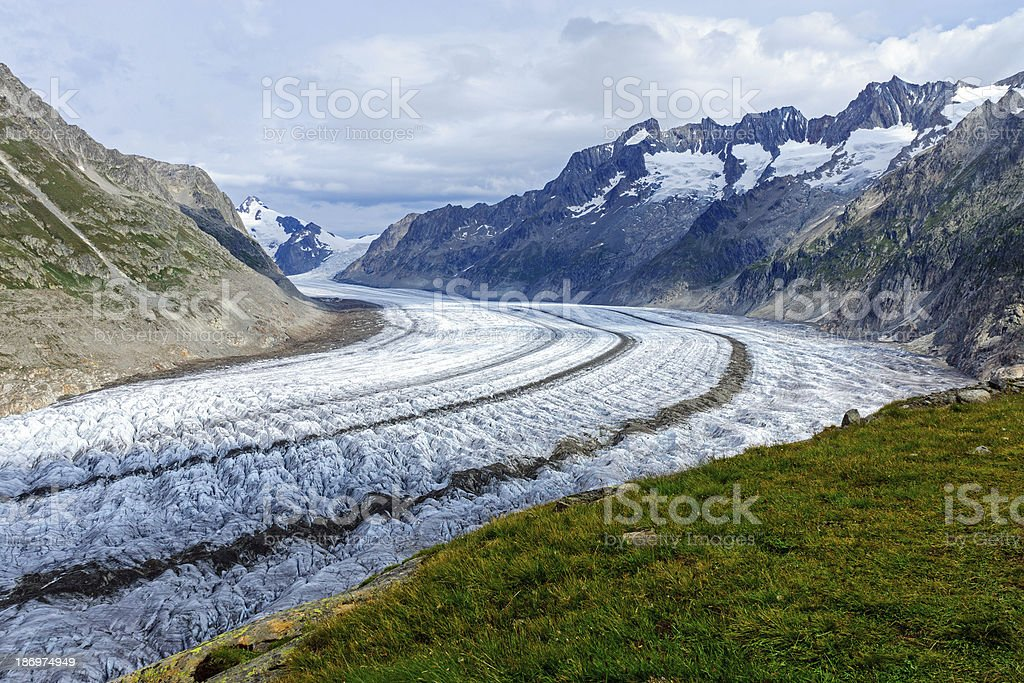 View of the Altesch glacier stock photo