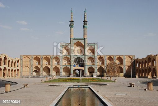 The Amir Chakhmaq Complex is a prominent structure in Yazd, Iran, noted for its symmetrical sunken alcoves.