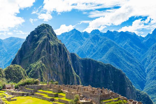 Blick auf die antike Stadt Machu Picchu, Peru. – Foto