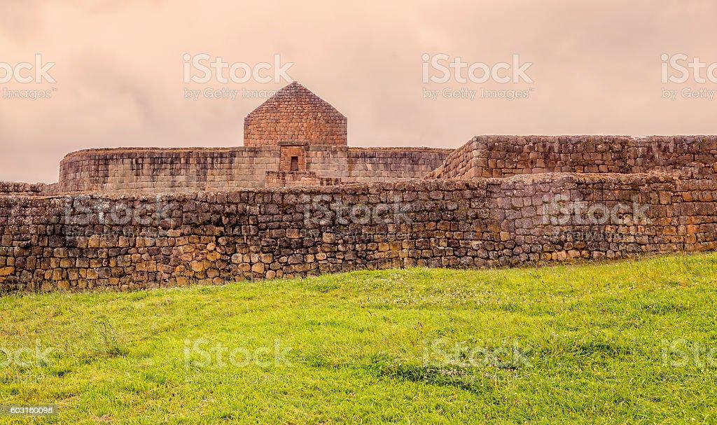 View Of The Ancient Inca Ruins Of Ingapirca stock photo