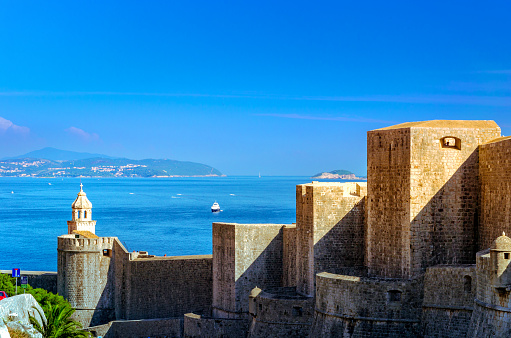 istock view of the ancient walls of Dubrovnik fortress, Croatia 1143535359