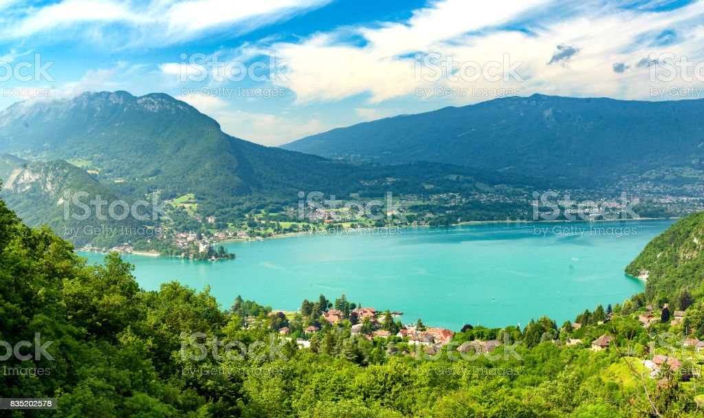 View of the Annecy lake stock photo