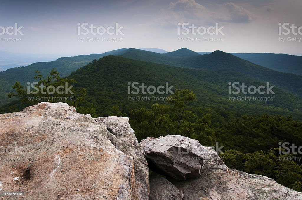 View of the Appalachian Mountains from Duncan Knob, Virginia, royalty-free stock photo