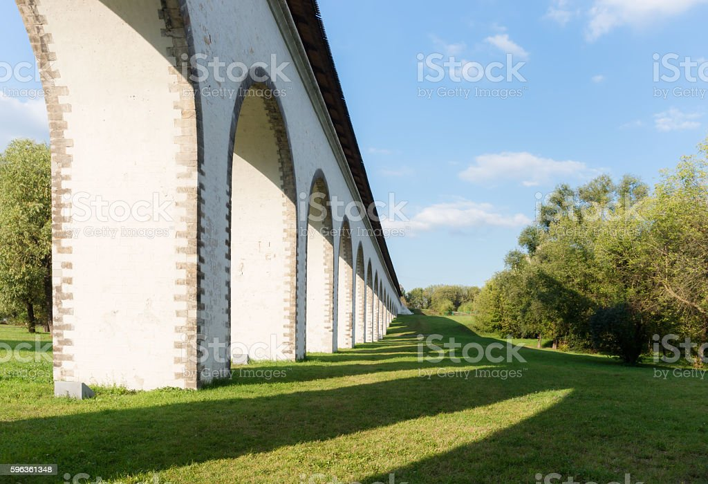 View of the Aqueduct with shadow royalty-free stock photo