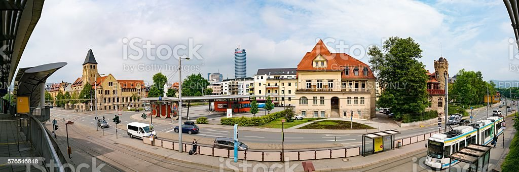 View of the area near the train station 'Paradies' stock photo