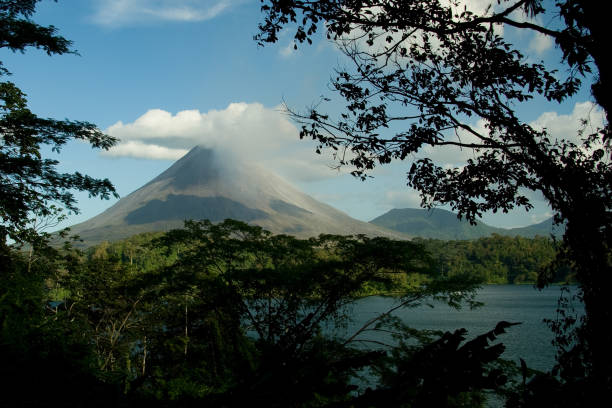 View of the Arenal volcano stock photo