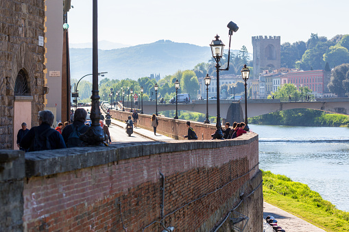 View of the Arno River in Florence