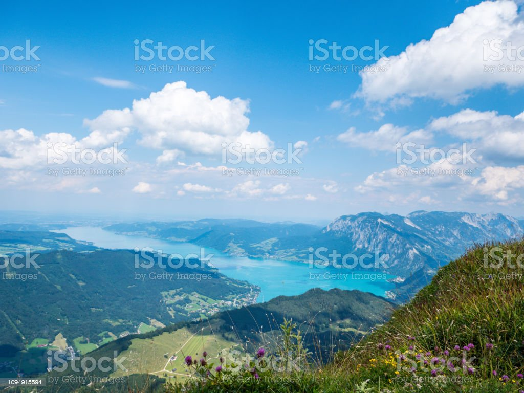 Blick auf den Attersee-See in der Region Salzkammergut – Foto