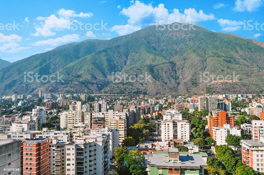 View of The Avila National Park, Caracas, Venezuela stock photo