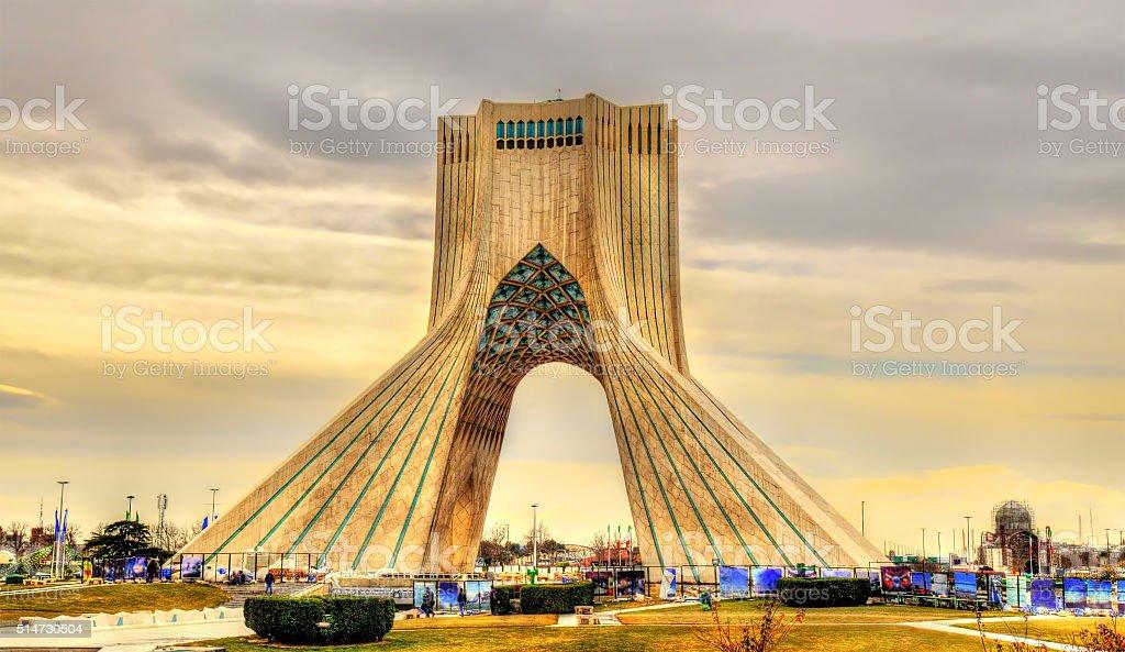 Ansicht der in Teheran Azadi Turm - Lizenzfrei Architektur Stock-Foto