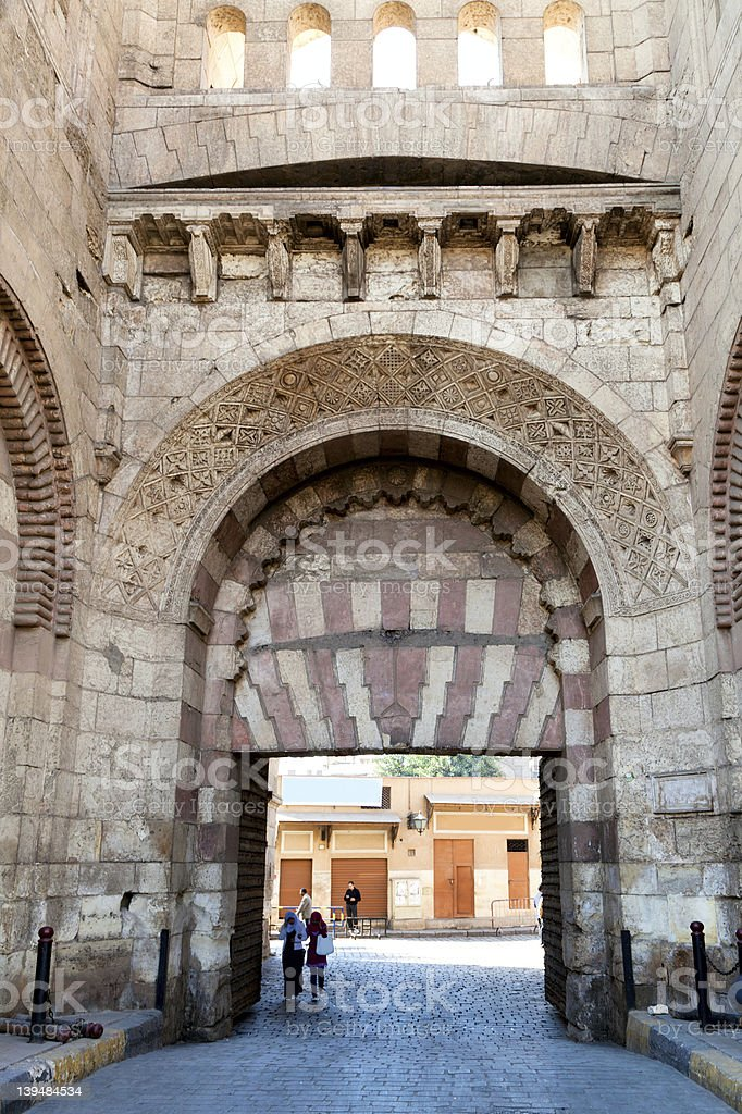 View of The Bab al Futuh gate, Cairo, Egypt royalty-free stock photo