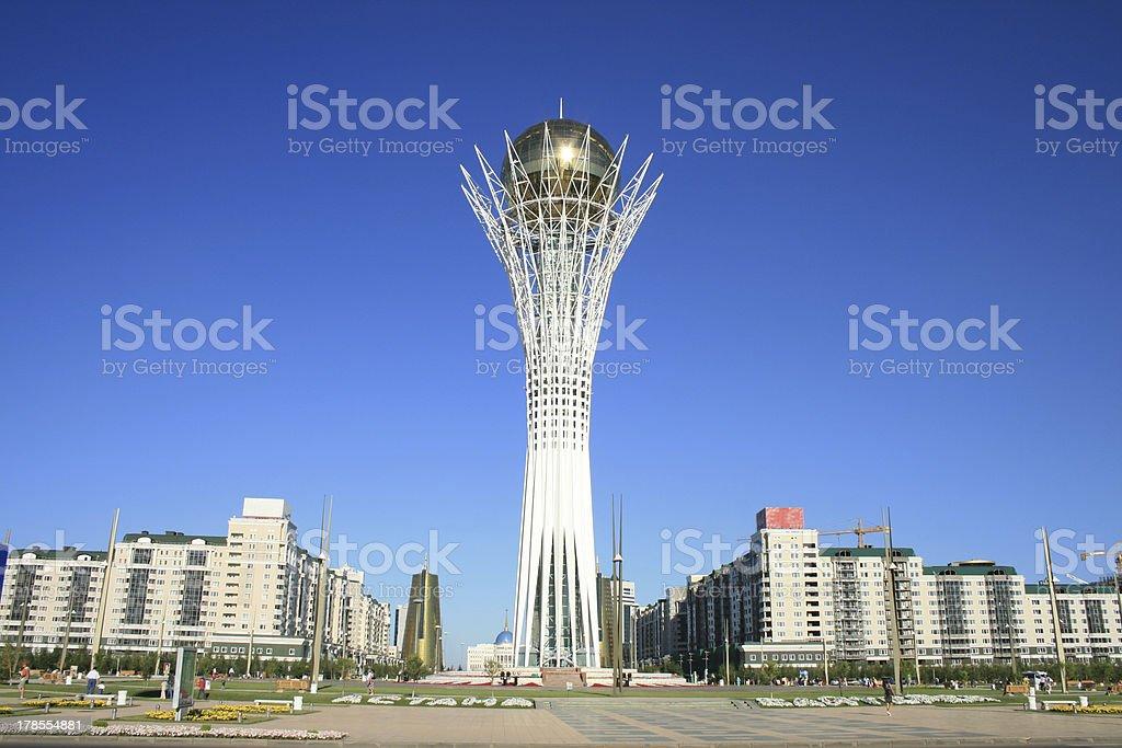 View of the Baiterek (Astana, Kazakhstan) royalty-free stock photo