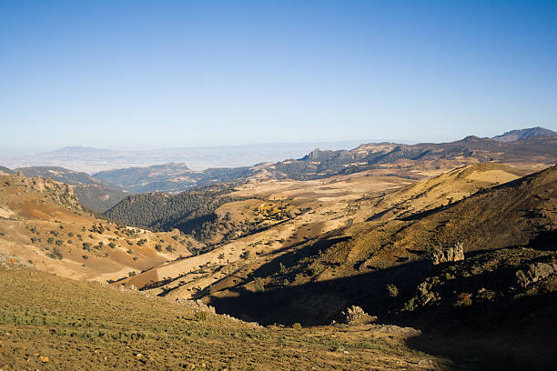 View of the Bale Mountains National Park, Ethiopia stock photo