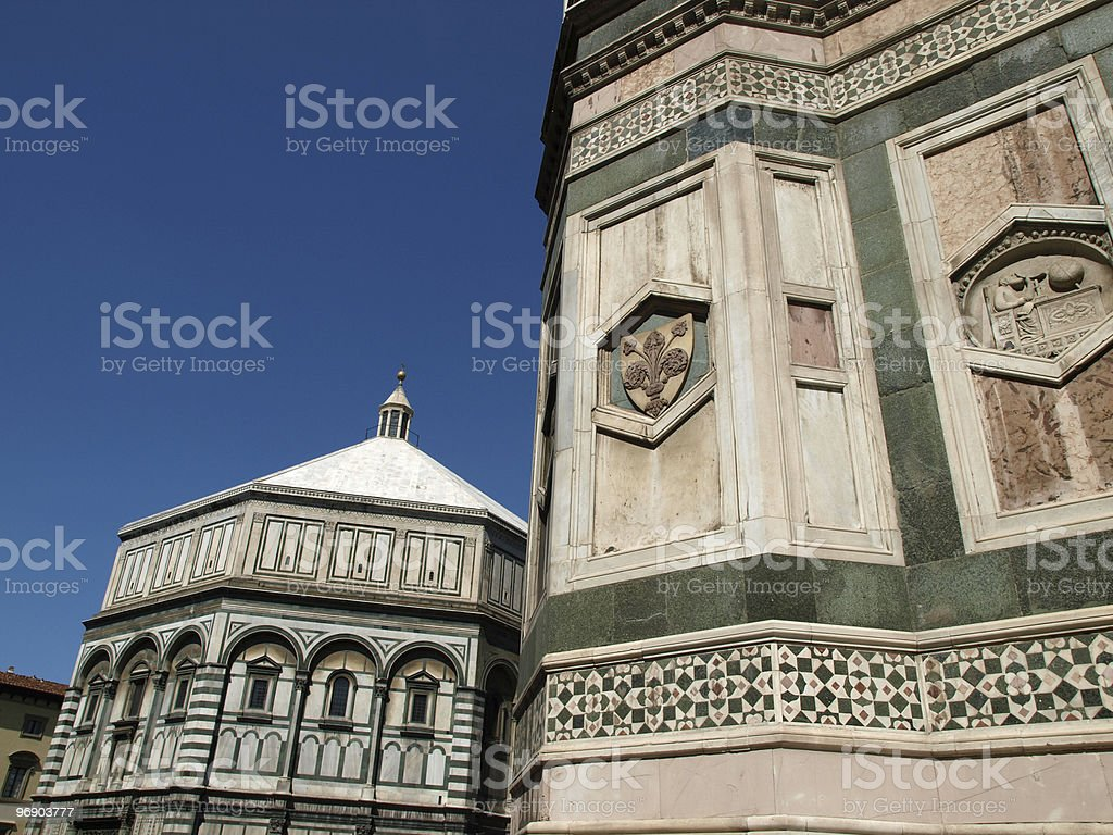 View of The Baptistery and Giotto's bell tower - Florence royalty-free stock photo