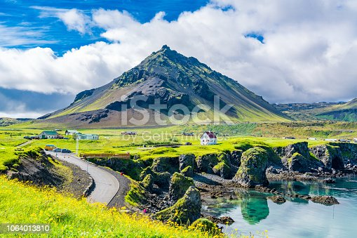 istock View of the basalt rocks formation on the coastline 1064013810