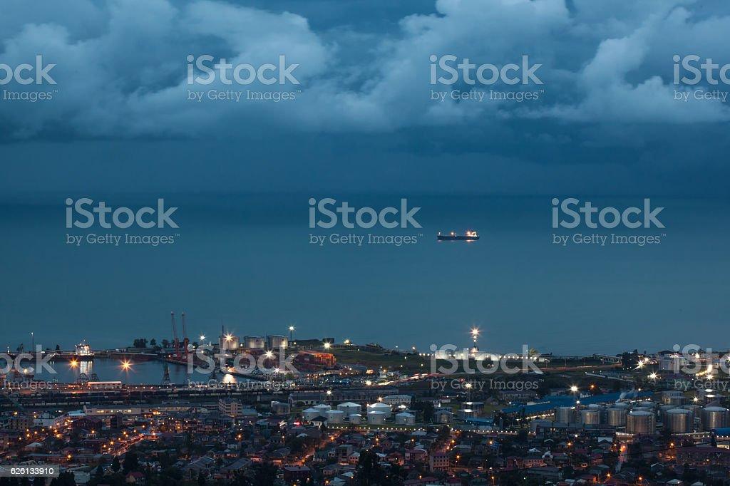 View of the Batumi sea port stock photo