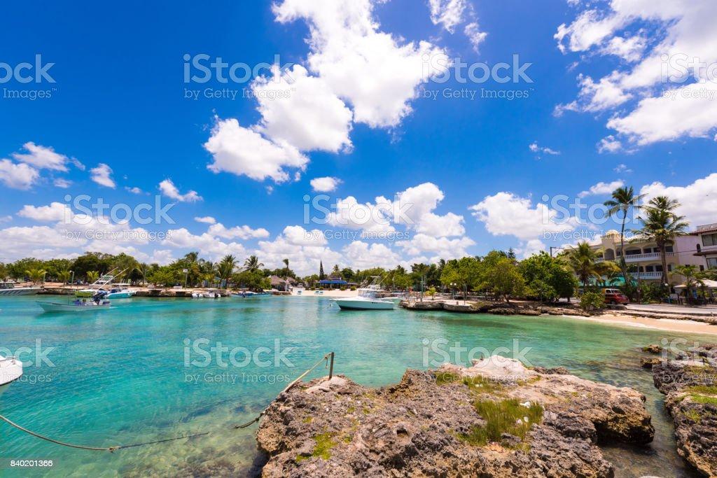 Vista de la bahía en Bayahibe - foto de stock