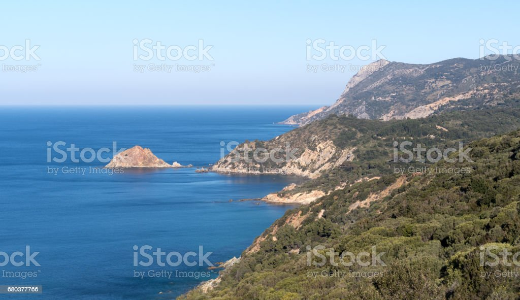 View of the bay of Monte Argentario, Tuscany, Italy stock photo