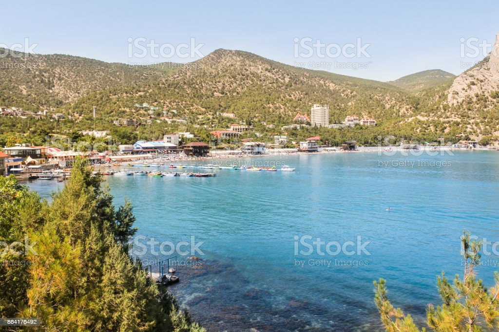 View of the bay of the New World. royalty-free stock photo