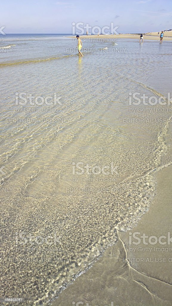 View of the beach - ebb stock photo