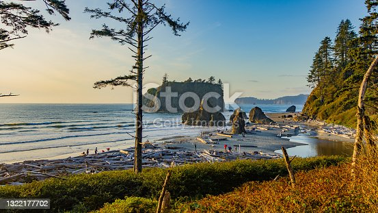 istock View of the beach from the cliff. Beautiful blue sea. Ruby Beach, Olympic National Park, Washington state, USA 1322177702