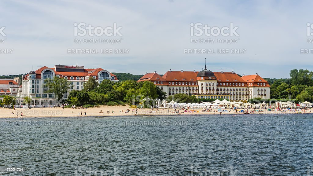 View of the beach in Sopot, stock photo
