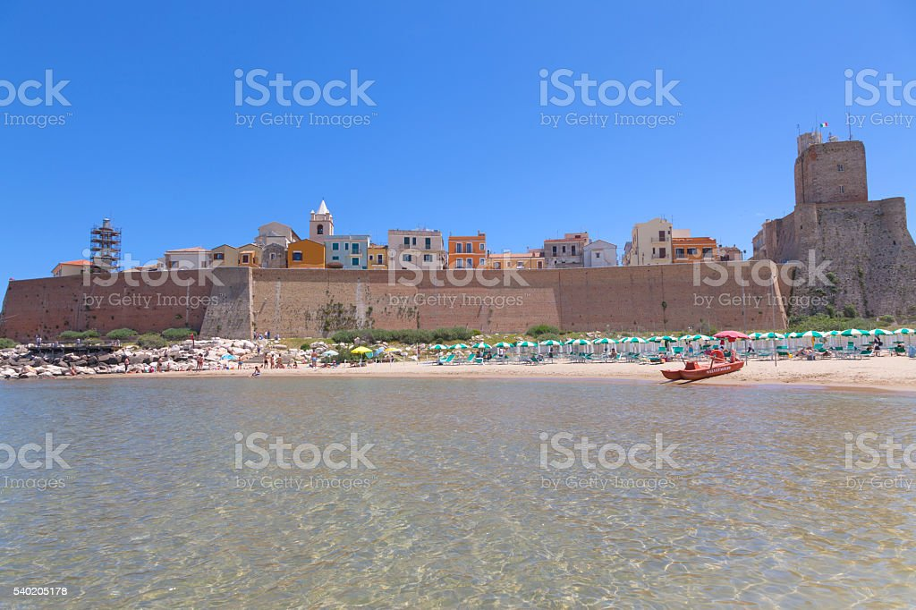 View of the beach in Termoli, Molise, Italy stock photo