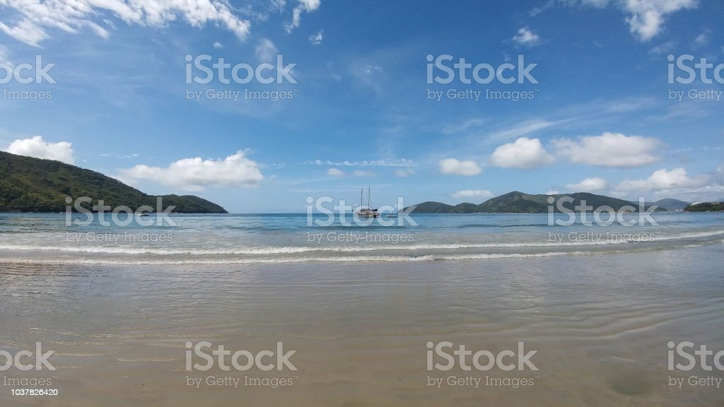View of the beach stock photo