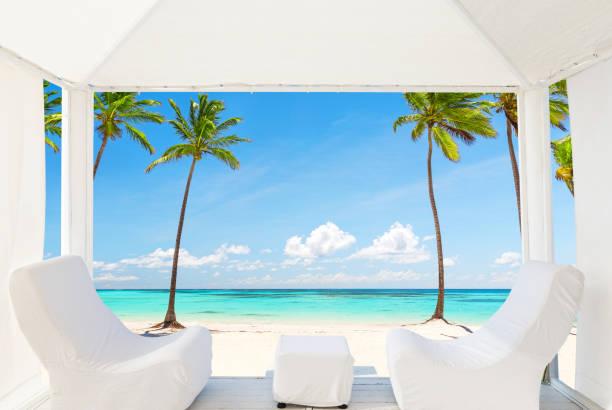 Ansicht der wunderschönen Strand in einem balinesischen Bett – Foto
