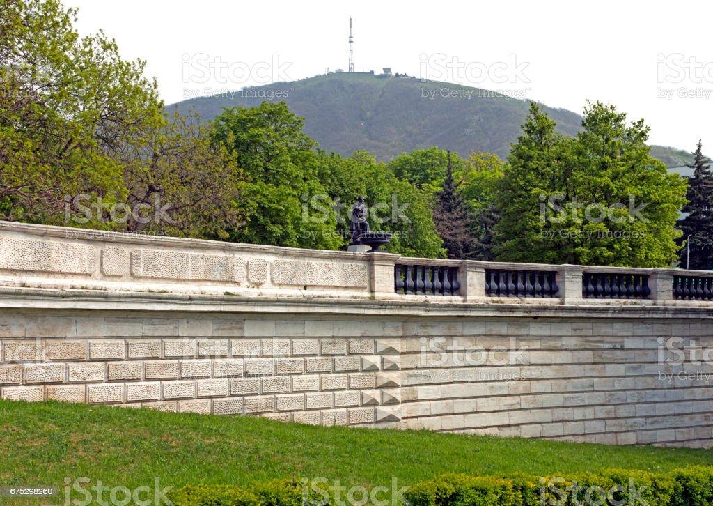 View Of The Beautiful Mount Mashuk stock photo