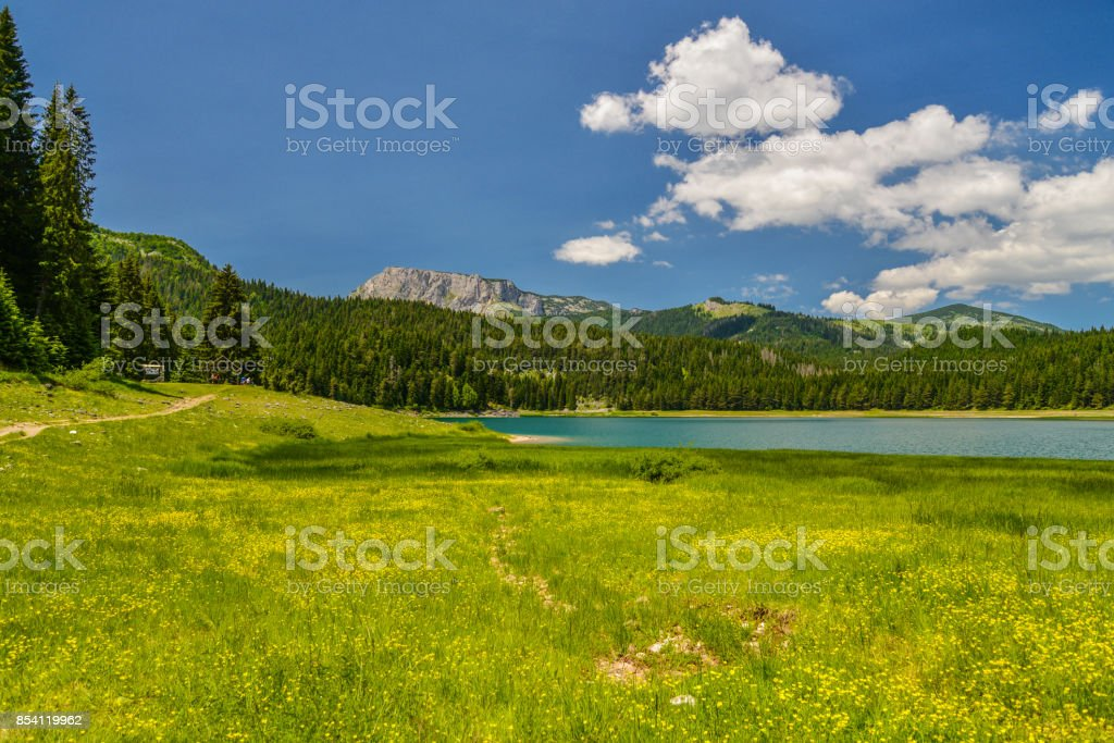 View of The Black Lake stock photo