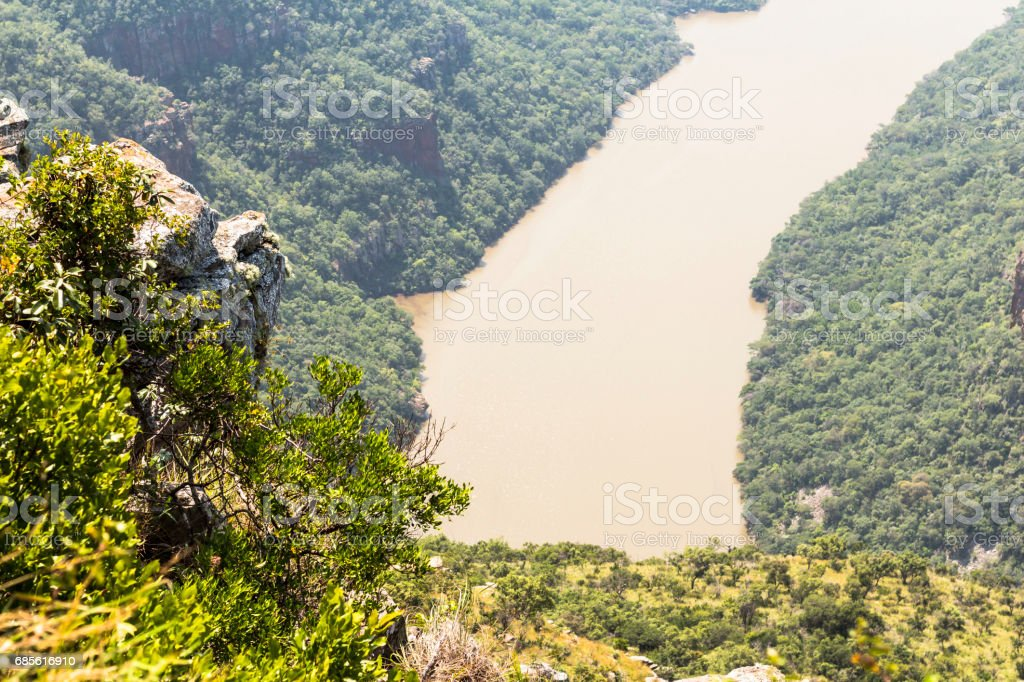View of the Blyde River in South Africa Lizenzfreies stock-foto