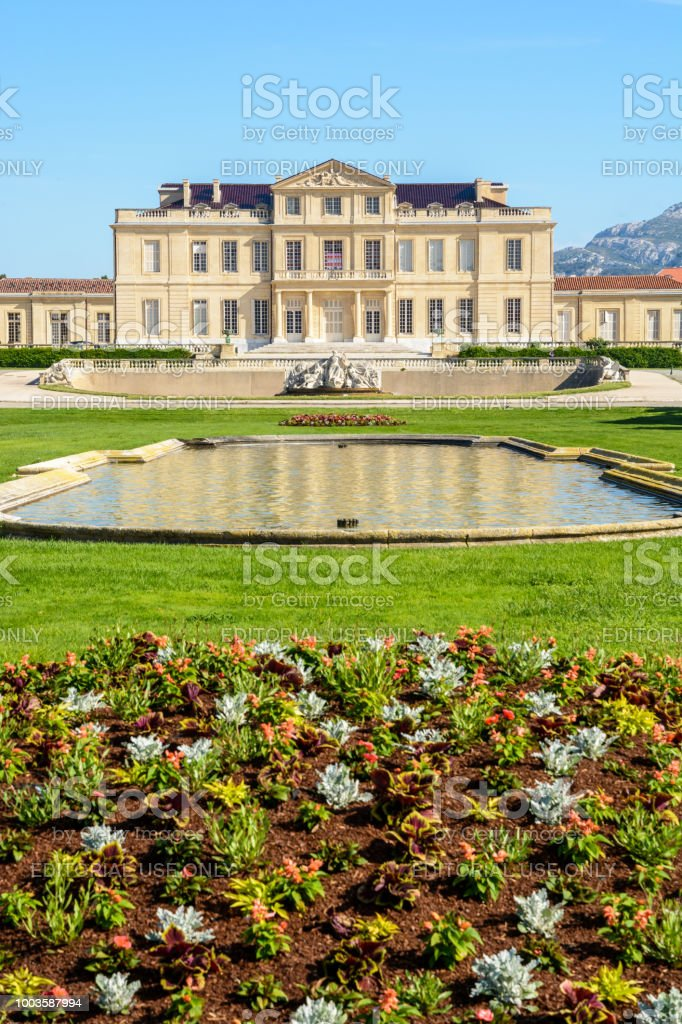 View Of The Borely Castle And Its French Formal Garden ...