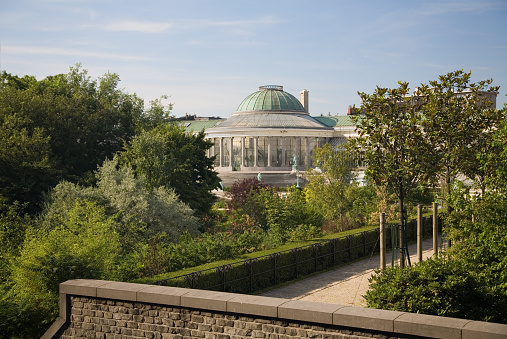 View Of The Botanical Garden In Brussels Stock Photo - Download Image Now