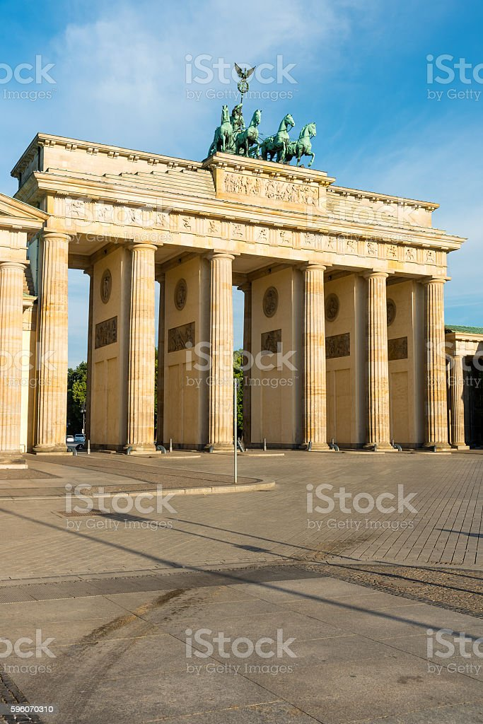 View of the Brandenburger Tor royalty-free stock photo