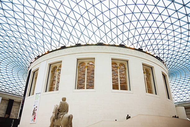 View of the British Museum and its roof made of glass – Foto