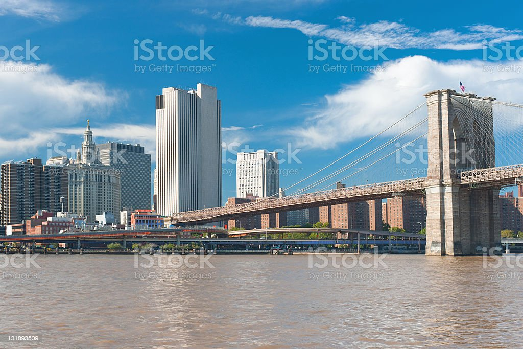 View of the Brooklyn Bridge royalty-free stock photo