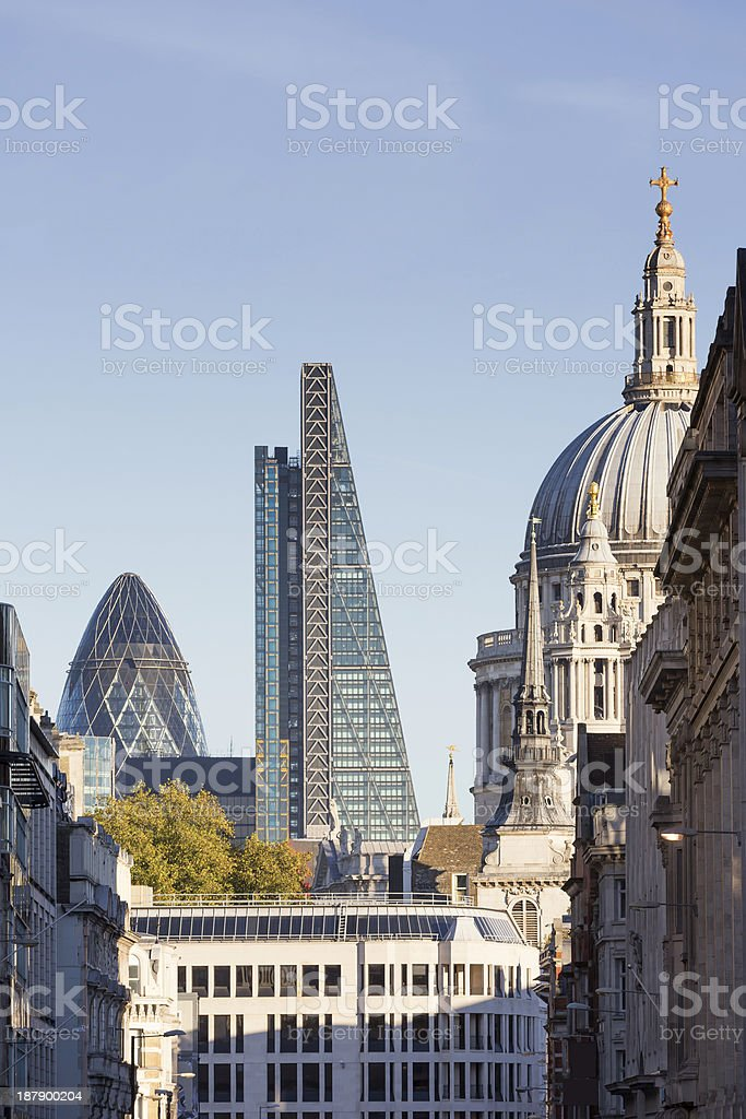 View of the buildings in the city of London  stock photo