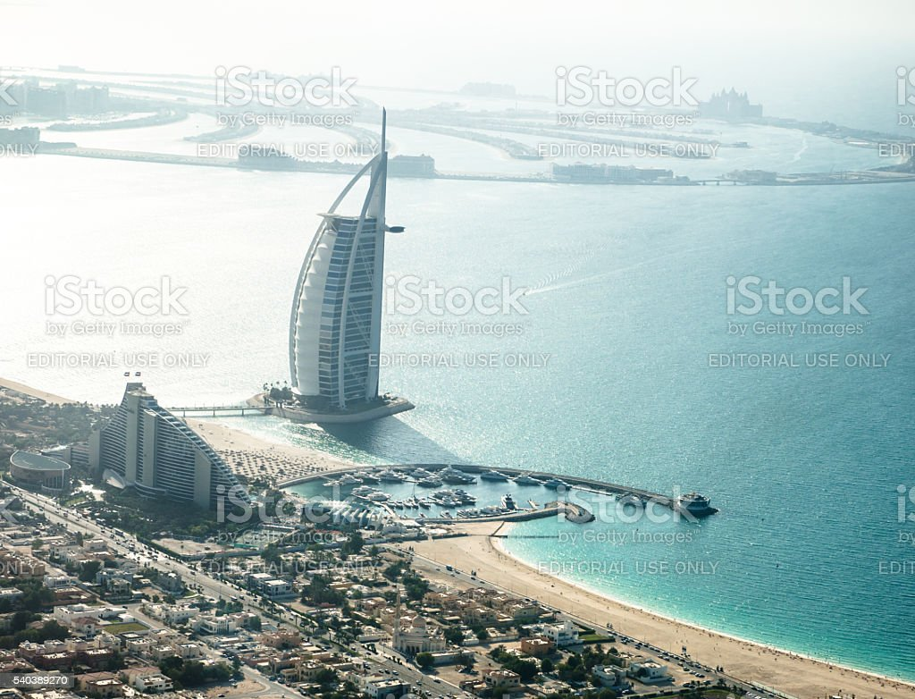 view of the Burj Al Arab stock photo