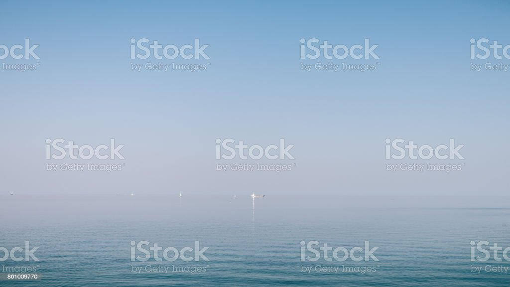 View of the calm sea stock photo